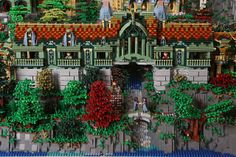 The Elven Outpost of Rivendell From 'Lord of the Rings' Recreated Using 200,000 LEGOs