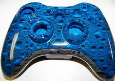 Custom Blue Rain Drops Xbox 360 Controller Shell-Hydro dipped With High Gloss