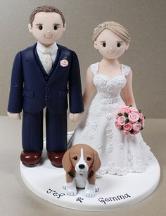 Personalised wedding cake toppers www.artlockedesigns.co.uk