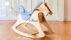 Rocking Horse  Wood Rocking Horse w/ Customized by CristysStudio, $169.99