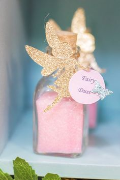 Fairy Birthday Party- Fairy Dust Favor Jar from a Whimsical Fairy Bi. Fairy Birthday Party- Fairy Dust Favor Jar from a Whimsical Fairy Bi. Girls Birthday Party Themes, Birthday Party Decorations, Girl Birthday, Birthday Parties, Parties Kids, Birthday Ideas, Birthday Cakes, Princess Birthday, Decoration Party