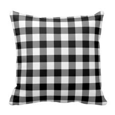 Black and White Gingham Pattern Pillows for Rocking Chairs on Front Porch