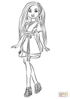 Mal Descendants 2 Coloring Page