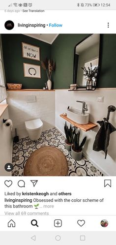 Small Toilet Room, Small Bathroom, Bad Inspiration, Bathroom Inspiration, Bathroom Renos, Bathroom Renovations, Bathroom Styling, Bathroom Interior Design, House Extension Design