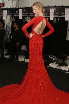 red gown. black tie perfection.