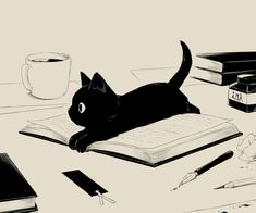38 Ideas for illustration art anime animal prints Art And Illustration, Cat Illustrations, Arte Inspo, Crazy Cats, Crazy Cat Lady, Animal Drawings, Aesthetic Anime, Black Cat Aesthetic, Cats And Kittens