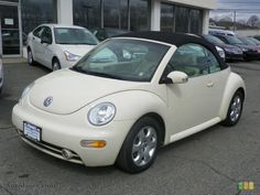 Harvest Moon Beige VW Beetle Convertible