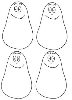 gabarit barbapapa