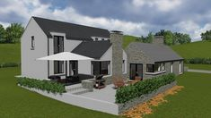 mod068 House Designs Ireland, Old Cottage, Indoor Outdoor Living, Home Design Plans, Modern Exterior, Future House, Building A House, House Plans, New Homes