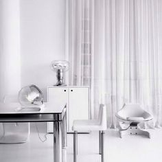 Retro white interior