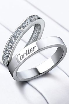 Cartier Yellow Rose And White Gold Wedding Bands I Do Staging Styling 3 Party Planning Pinterest Trinity Ring