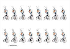 Folha de Tags Frozen Olaf 5cm