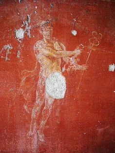 """""""Hermes"""" - Plan: D - The House of the """"Golden Cupids"""" at Pompeii, recently restored (Neronian age) 