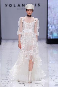 See the Spring 2020 wedding dresses from YolanCris bridal Wedding Dress Trends, Boho Wedding Dress, Wedding Party Dresses, Glamorous Wedding, Chic Wedding, Wedding White, Empire Cut Dress, Minimalist Dresses, Bridal Fashion Week