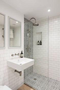 Amazing Small Bathroom Makeover Ideas 49 most popular master bathroom remodel tile ideas 12 bathroom Downstairs Bathroom, Bathroom Renos, Bathroom Flooring, Remodel Bathroom, Small Shower Remodel, Tub Remodel, Bathroom Makeovers, Master Bathrooms, Small Basement Bathroom