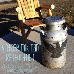 Vintage Milk Can Restoration