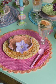 gehäkelte Tisch-Sets, Foto: Bine Brändle