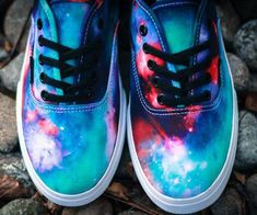 Own a truly out of this world, mind blowing pair of sneakers with the cosmic galaxy Vans. With a unique design for each pair of shoes, they sport the classic waffle outsole along with a far out cosmic design and a slimmed down profile that make them fit like a glove.