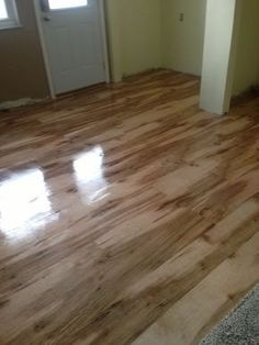 The final finish of the plywood floor , love only cost $100.00 dollars total !: