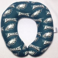 Philadelphia Eagles Travel/Neck Pillow by AuntShellDesigns on Etsy