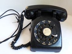 VTG old Western Electric Black rotary diak phone desl top telephone | eBay