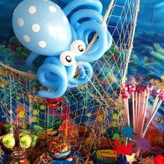Under the sea party - balloon octopus