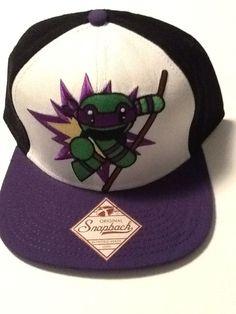 TMNT Teenage Mutant NINJA TURTLES Hat Cap Purple Snapback COMICS COSTUME  COSPLAY  Bioworld  BaseballCap d7e7dac22ee6