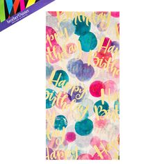 Watercolor Dots Happy Birthday Tissue Paper