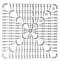 Transcendent Crochet a Solid Granny Square Ideas. Inconceivable Crochet a Solid Granny Square Ideas. Crochet Diy, Free Crochet Bag, Crochet Motifs, Crochet Blocks, Granny Square Crochet Pattern, Crochet Diagram, Crochet Chart, Crochet Squares, Crochet Stitches