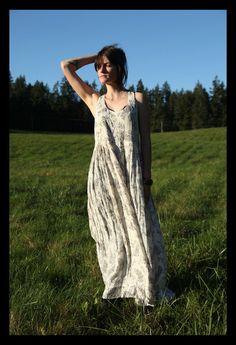90s FULL GODDESS Romantic Cream Printed Rayon Maxi Dress,  Small Medium on Etsy, $56.73 CAD