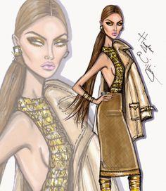 Hayden Williams Fashion Illustrations: 'Born to Shine' by Hayden Williams