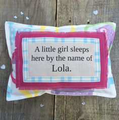 Cushion, girls cushion, cute, bedroom decoration, pink, handmade by bossy flossys, visit us on facebook and etsy ❤️