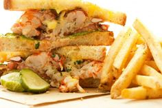 Lobster Roll Week! Check out this sick lobster and vanilla 'club' sandwich recipe! #foodrepublic