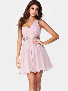Little Mistress Embellished One Shoulder Dress - Blush, http://www.very.co.uk/little-mistress-embellished-one-shoulder-dress---blush/1182193273.prd