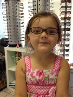 Our little model Kristen (Jessica's daughter) models fashion eyeglasses for us    Fort Lauderdale Eye Care and Eyewear 954-763-2842  www.FLEyecareEyewear.com