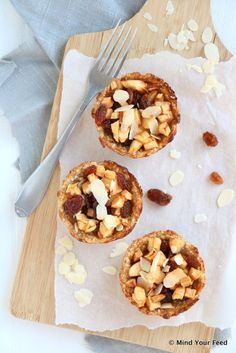 havermout appeltaartjes Healthy Food Options, Super Healthy Recipes, Sweet Recipes, Healthy Cake, Healthy Baking, Healthy Snacks, Healthy Sweets, Romantic Dinner Recipes, Good Food
