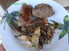 Paupiettes de veau et artichauts sautés