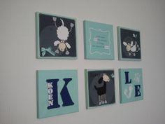babykamer schilderijtjes more nusery decoration babykamer jongen ...
