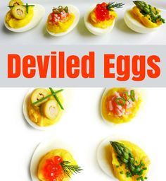 One deviled egg recipe. All the delicious variations are up to you! Olive Recipes, Egg Recipes, Deviled Eggs Recipe, Appetizers For Party, Finger Foods, A Food, Food Processor Recipes, Favorite Recipes, Snacks