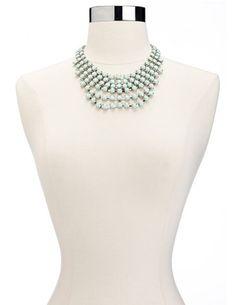 Shimmering Chandelier Bib Necklace: Charlotte Russe