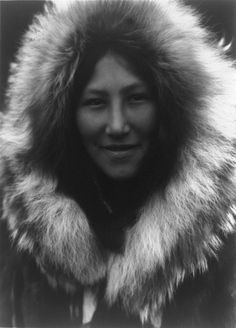 1929 Inupiat woman from alaska...  this photo is often so heavily retouched that she looks like a doll... so i PIN, the real pic.