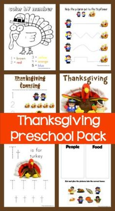 Thanksgiving Preschool Pack based on the Little People Mayflower set. Great for Tot School, Preschool and Kindergarten. Thanksgiving Placemats, Free Thanksgiving Printables, Thanksgiving Activities For Kids, Fall Preschool, Preschool Lessons, Thanksgiving Crafts, Preschool Activities, Holiday Crafts, Collor
