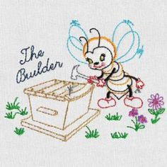 BUSY BEE - Aunt Marthas Machine Embroidery | OregonPatchWorks ...