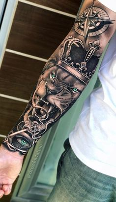 70 Pictures of Forearm Tattoos for Men Photos and T .- 70 pictures of forearm tattoos for men photos and tattoos - Lion Forearm Tattoos, Forarm Tattoos, Cool Arm Tattoos, Hand Tattoos For Guys, Dope Tattoos, Best Sleeve Tattoos, Lion Head Tattoos, Tattoo Sleeve Designs, Leg Tattoos