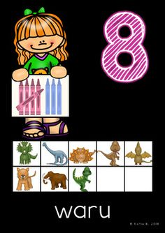 Maori Number Posters 0 to 20 on a black background by The Inspired Kiwi | Teachers Pay Teachers Number Posters, Bright Pictures, Games For Kids, Kiwi, Black Backgrounds, Numbers, Inspired, Inspiration, Maori