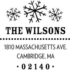 Three Snowflakes Custom Stamp - PS design