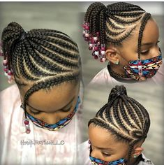 Black Kids Braids Hairstyles, Cute Little Girl Hairstyles, Little Girl Braids, Girls Natural Hairstyles, Baby Girl Hairstyles, Black Girl Braids, Girls Braids, Hair Twist Styles, Kid Braid Styles