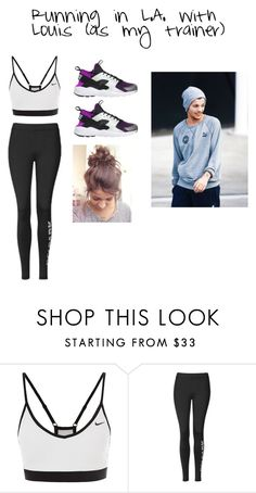 """""""Running in L.A. with Louis (as my trainer)"""" by mrsstomlinson991 ❤ liked on Polyvore featuring NIKE and Topshop"""