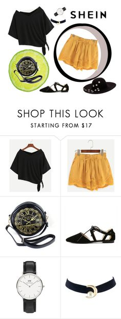 """""""shein style"""" by sheinfashion ❤ liked on Polyvore featuring Daniel Wellington and Betsey Johnson"""