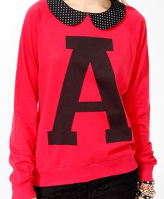Collared A Initial Pullover | FOREVER21 - 2019572262